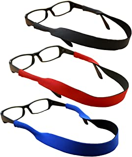 ORiTi 3 pcs Neoprene Eyeglasses Holder Strap, Non-slip Sports Sunglasses String Retainer, Eye Glasses Retainer Cord Chains...