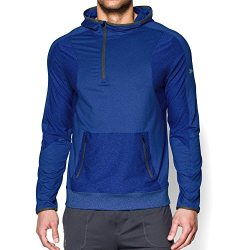 Under Armour UA Forum Sudadera con capucha para hombre, Hombre, 00-AQF3WU-ND, Real/Plata, extra-large