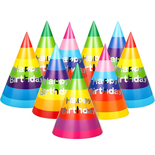 Why Should You Buy 20 Pieces Rainbow Birthday Party Hats Fun Party Cone Hats Birthday Paper Hats Art...