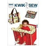 Kwik Sew Mustern K3643Warenkorb Sitzbezug und Wickeltasche mit Wickelunterlage, Weiß, 1Stück