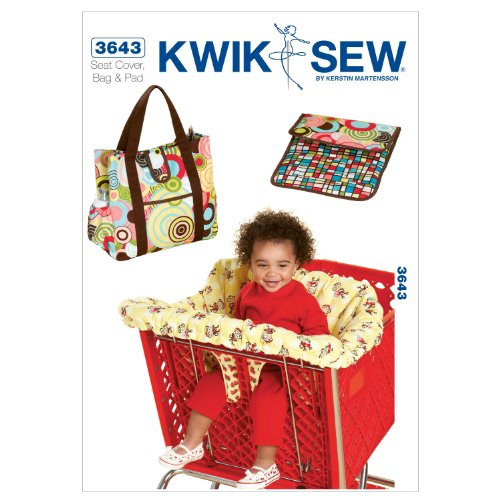 Kwik Sew Patroon K3643 winkelmand stoelhoes en luiertas met aankleedonderlegger, wit, 1 stuk