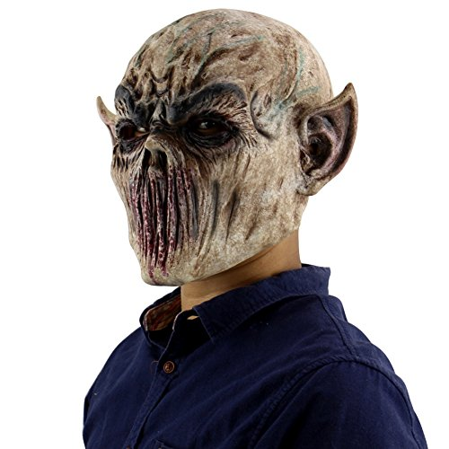 Forart Creepy Scary Halloween Cosplay máscara para Adultos decoración del Partido apoyos Bloody Zombie Tenedor Monstruo máscara