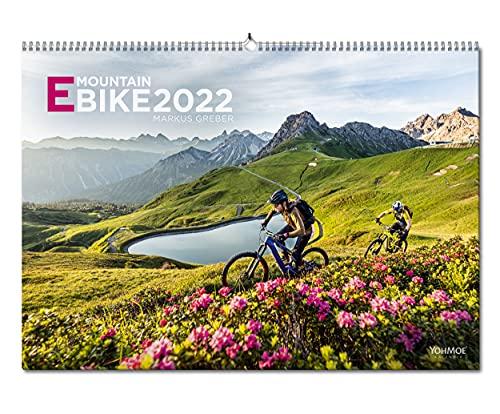 Yohmoe® E-Mountainbike Kalender 2022 by Markus Greber im großen Panorama-Format (59.4x42.0 cm). E-Bike Kalender 2022. E-Bike 2022. EMTB Wandkalender.