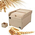 HOUSHIYU-521-Wooden-Rice-Storage-Bin-Cereal-Container-Sealed-Kitchen-Food-Storage-Container-Rice-Dispenser-for-Rice-Bean-Cereal-Nuts-and-Flour-10KG-and-15KG-to-Choices15KG