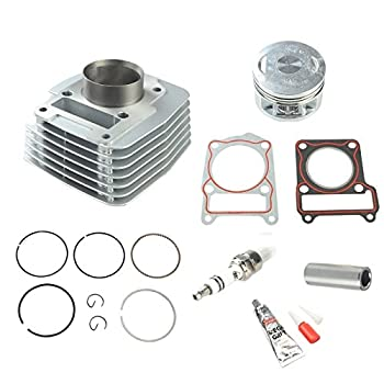 yjracing Cylinder Piston Rings Top End Kit Fit for 2000-2005 Yamaha TTR-125 TTR125