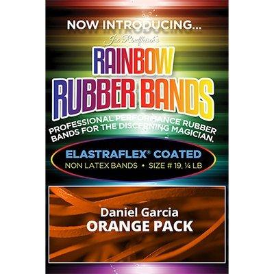 THE LORD OF THE MAGIC Joe Rindfleisch's Rainbow Rubber Bands (Daniel Garcia - Orange Pack ) by Joe Rindfleisch - Trick , Truco de Magia