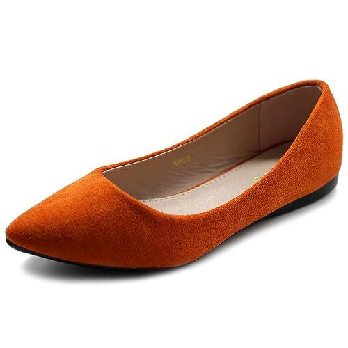 af916d309f0586 Ollio Women s Ballet Comfort Light Faux Suede Multi Color Shoe Flat