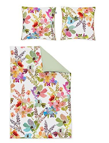 Irisette Mako-Satin Bettwäsche Juwel K Swindon bunt 1 Bettbezug 135 x 200 cm + 1 Kissenbezug 80 x 80 cm