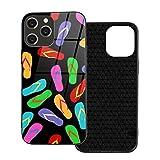 Flip-Flops kompatibel mit iPhone 12 Pro Hülle, dünn,