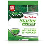 Scotts 21712 Turf Builder Starter Food GrassFL-5,000 sq. ft, Fertilizer for New Lawns and Reseeding, Improves Seeding Results, Grows Strong Roots, Use On All Grass Types
