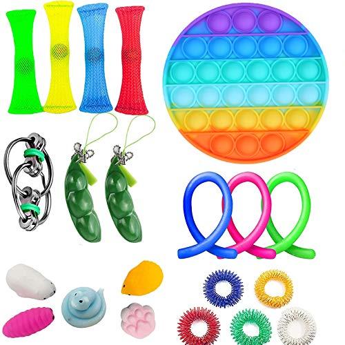 iSayhong Juego de juguetes sensoriales para niños, adultos, alivio del estrés y antiansiedad, juego para TDAH, autismo y ansiedad, juego para aulas y oficina