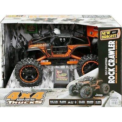 New Bright Orange Radio Control 4x4 Jeep Rock Crawler Truck 2.4 GHz 9.6v Orange RC 1:10 Scale by NEW BRIGHT