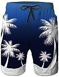Loveternal Bañador Hombre Playa Hawaiano Deportivos Verano Pantalones Cortos 3D Secado Rápido Palmeras Bañador Hombre L