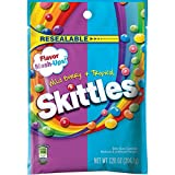 Skittles Flavor Mash-Ups Wild Berry and Tropical Candy, Resealable 7.2 ounce bag