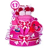 MomsStory – Tarta de pañales para niña, regalo para nacimiento, bautizo,...