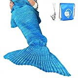 LAGHCAT Mermaid Tail Blanket Crochet Mermaid Blanket for...