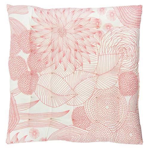 Scantex Stuhlkissen GIARDINO Pink 40 x 40 cm, 2 Stück, 100% Baumwolle