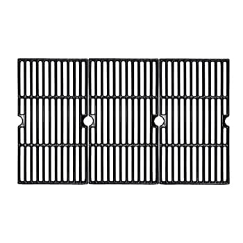 BBQMall Porcelain Enameled Cast Iron Grill Cooking Grates for Charbroil 463420508 463420509 463420511 463436213 463436214 463436215 463461613 Gas Grills Grates Replacement Parts