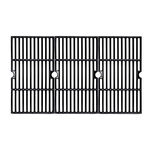 BBQMall Porcelain Enameled Cast Iron Grill Cooking Grates for Charbroil 463420508, 463420509, 463420511, 463436213, 463436214, 463436215 463461613 Gas Grills Grates Replacement Parts