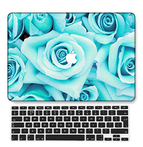 GangdaoCase Plastic Ultra Slim Light Hard Shell Case Cut Out Design Compatible New MacBook Pro 13 inch with Touch Bar/Touch ID with UK Keyboard Cover A2289/A2251 (Mint Green A 15)