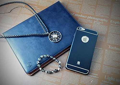 『isp iPhone 6 Plus / 6s Plus 開閉式 スリーブケース + ispロゴ入りオリジナルクロスセット ブラック』の4枚目の画像