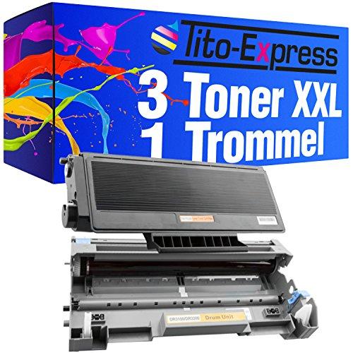 Tito-Express PlatinumSerie 3 Toner & 1 Trommel kompatibel mit Brother TN-3280 & DR-3200   Geeignet für DCP-8070D DCP-8080DN DCP-8085DN DCP-8880DN DCP-8890DW   Toner 8.000, Trommel 25.000 Seiten