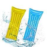 CINSEY Cama inflable, hamaca de agua 4 en 1, tumbona para piscina, piscina inflable, colchón de aire, hamaca de agua para adultos, cama de natación para verano (azul)