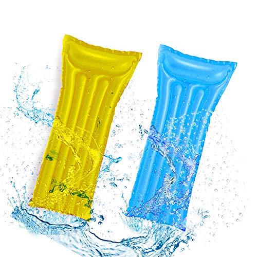 CINSEY Aufblasbares Schwimmbett, Wasser-Hängematte 4-in-1Loungesessel Pool,Aufblasbares Schwimmen Schwimmbad Luftmatratze Wasser-Hängematte für Erwachsene Schwimmbett für Sommer. (Blau)