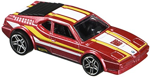 HOT WHEELS EXCLUSIVE BMW SERIES RED BMW M1 1/8
