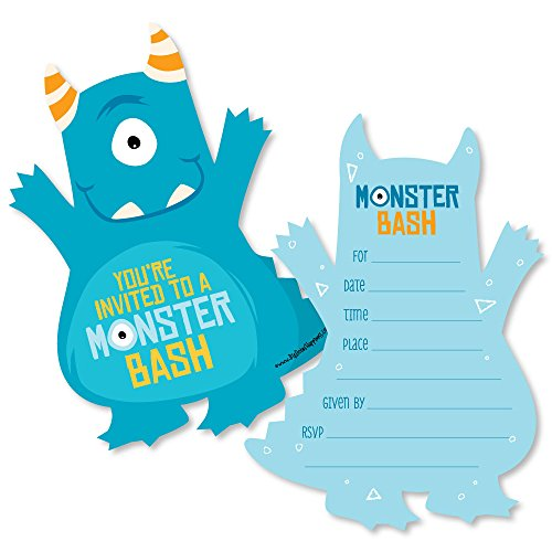 monster baby shower invitations - 1