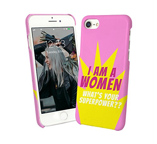 I Am A Women What's Your Superpower Girls Gang Feminism Proud Hero_000997 - Carcasa rígida de plástico para iPhone 6, 7, 8 X, Galaxy S8, Note 8, Huawei Funny Gift Christmas