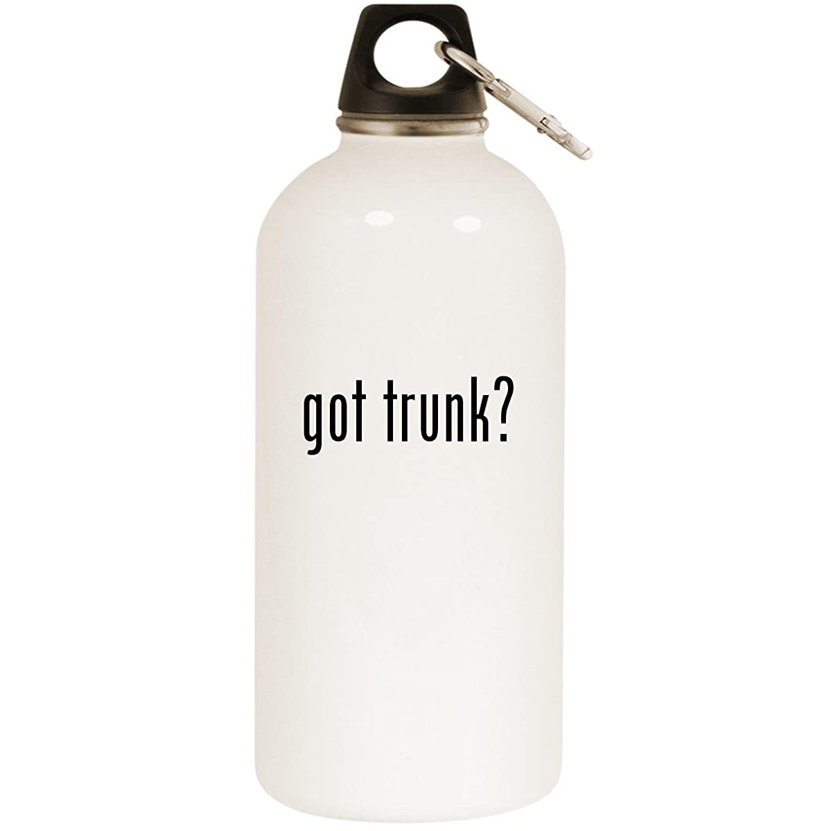Molandra Products got Trunk? - White 20oz Stainless Steel Water Bottle with Carabiner