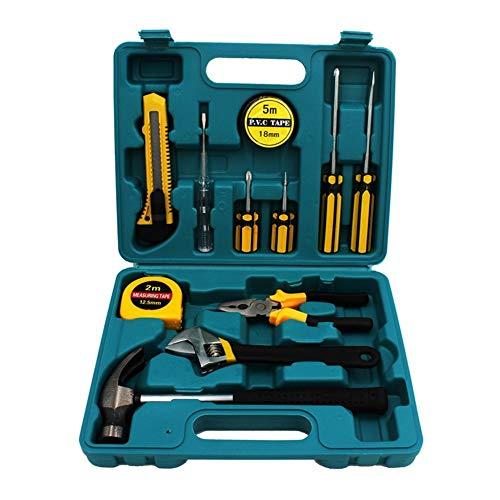 Duradero 12 piezas Set caja de herramientas portátil de Hexagon destornillador kit de herramienta de la combinación de Mantenimiento caja de herramientas con caja de almacenamiento caja de herramienta