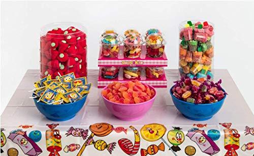 Candybar de Cumpleaños La Asturiana - Selección de 6 clases distintas de golosinas y chucherías para Mesas Dulces o Candybar, para celebrar fiestas de cumple u otros eventos y celebraciones