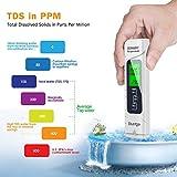 Dustgo Medidor pH Medidor de PH con Medidor TDS EC Temperatura 2 en 1...