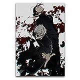 Jujutsu Kaise - Póster de papel pintado en lienzo para pared, lienzo artístico, impresión moderna, decoración de pared, sin marco, para sala de estar, dormitorio, pasillo, hal