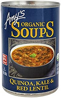 Amy's Organic Soups Quinoa Kale & Red Lentil, 14.4-ounce Cans (Pack of 12)