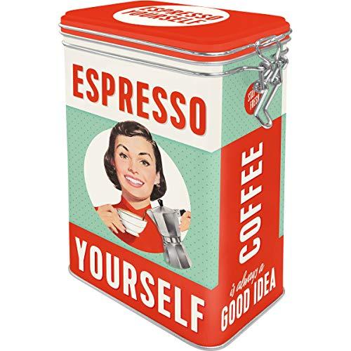 Nostalgic-Art Retro Kaffeedose - Say it 50's - Espresso Yourself, Blech-Dose mit Aromadeckel, Vintage Geschenk-Idee für Kaffee-Liebhaber, 1,3 l