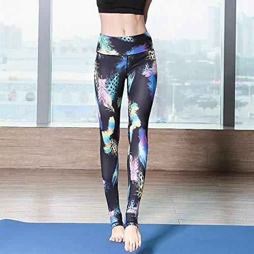 GYUGSD Leggings para Mujer Pantalones De Yoga para Mujer Sexy De Cintura Alta Sin Costuras Impresión En Color Fitness Leggings Entrenamiento Deportes Correr Push Up Gym Leggings-A_XL