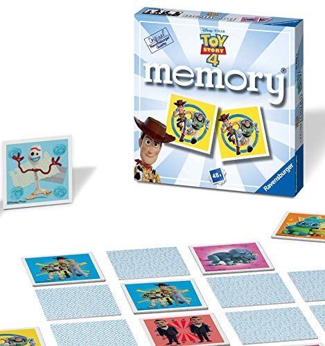 Ravensburger Disney Toy Story 4 Mini Memory Matching Picture Snap Pairs Game For Kids Age 3 Years and Up