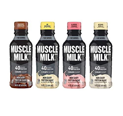 Muscle Milk Pro Series Protein Shake, 4 Flavor Variety, 40g Protein, 14 Fl Oz (Pack of 12)