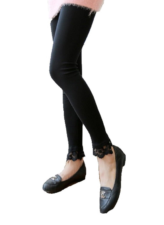 (コズミックツリー) COSMIC TREE 裾 シンプル レース 刺繍 レギンス シンプル レギパン スパッツ タイツ スキニー FREE フリー オールシーズン 裾レース CT-14