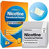 Aroamas Nicotine Patches to Quit Smoking, Nicotine Transdermal Patches Step 3, Cigarette Patches to Stop Smoking, 7 mg - 21 Patches