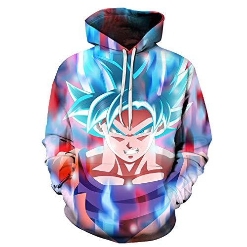 cyxb Sweat Hood Shirt À Capuche Homme,Dragon Ball Harajuku Unisexe Sweats à Capuche Couple Sweat Hommes Anime drôle imprimé surdimensionné Pull Streetwear-W3576_5XL