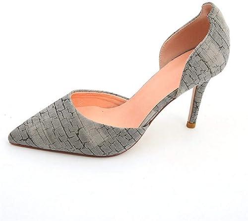 YMFIE Mesdames Mode tempérament élégant Chaussures Simples a souligné Stiletto Sexy à Talons Hauts Chaussures de Mariage Chaussures de soirée