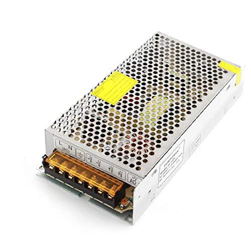 X-DREE AC 100-220V a DC 24V 5A Silver Tone Switching Fuente de alimentación Driver para LED (Pilote d'alimentation à découpage ton sur ton' 100-220V à 24V DC 5A pour LED