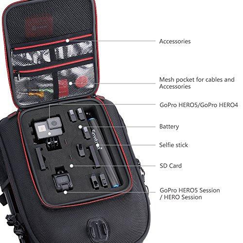 Smatree Travel Backpack for DJI Mavic Air/GoPro Hero 2018 / Hero 7/6/5/4/3 (Not fit for Mavic Air 2)