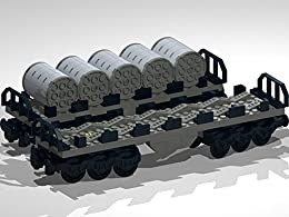 12-Wheel Flat Bed Wagons with Metal Coils: Lego MOC building instructions by [E Chaton]