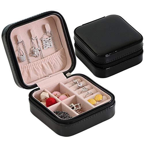 Simple Label Jewelry - Caja de almacenamiento para joyas, diseño de boca, color rojo