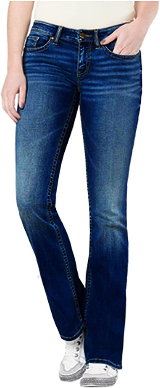 YAWEIE Women Online limited product Mid Waist Flare Pants Jeans Fitted Denim Slim Long Beach Mall